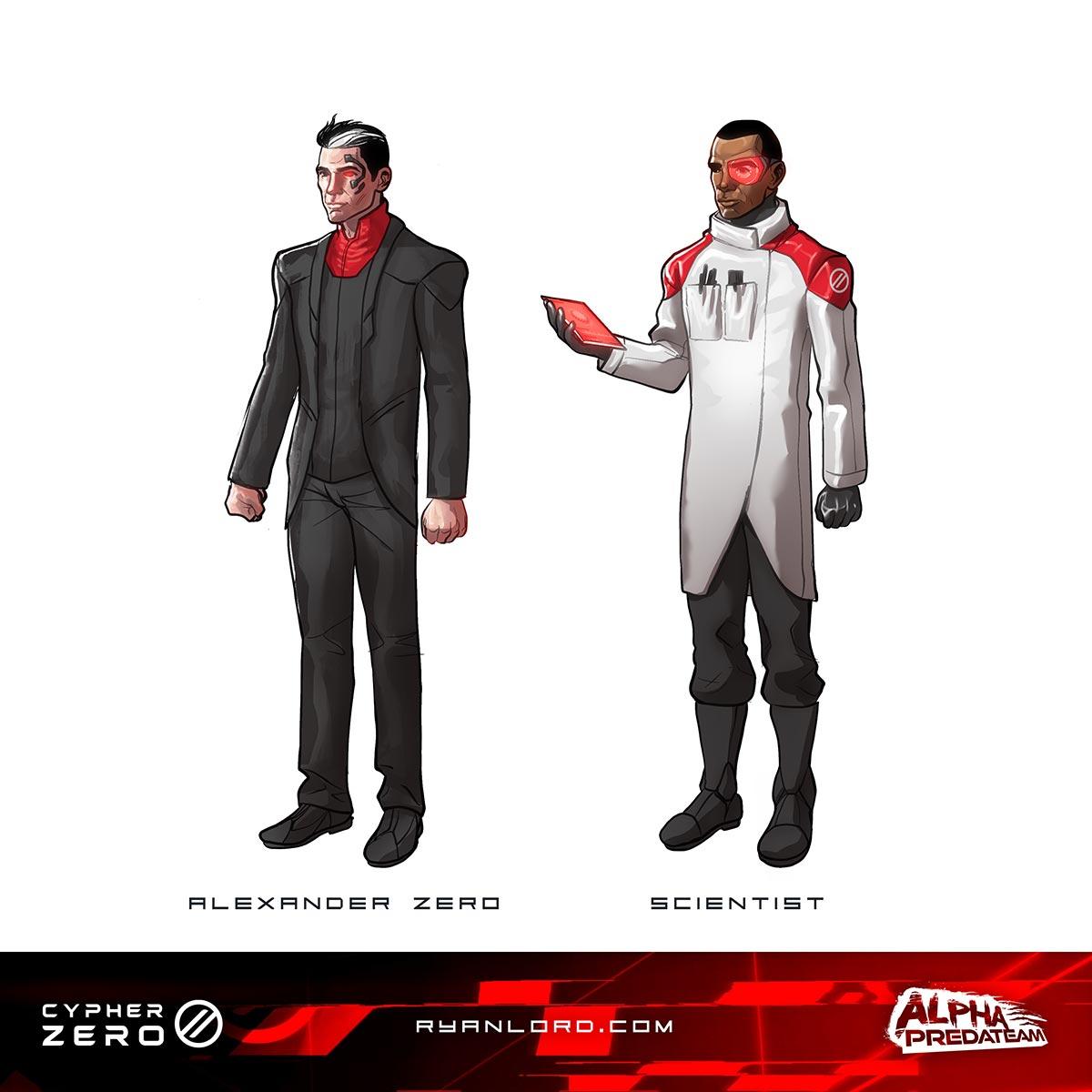 CypherZero Characters